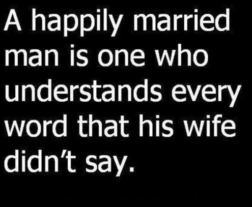 Happily married man