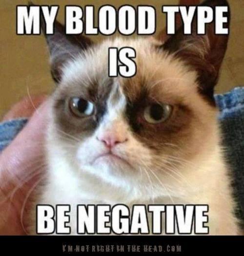 Be negative