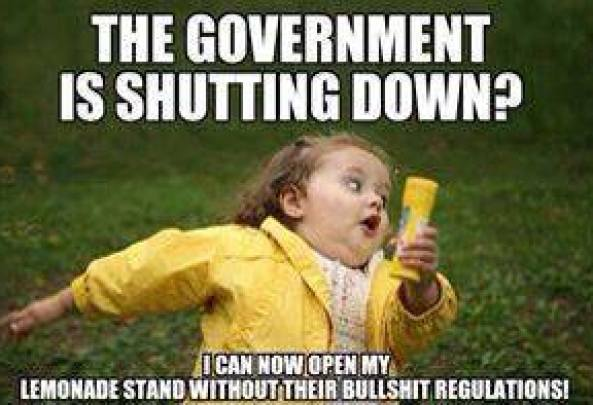 The gov shutting down