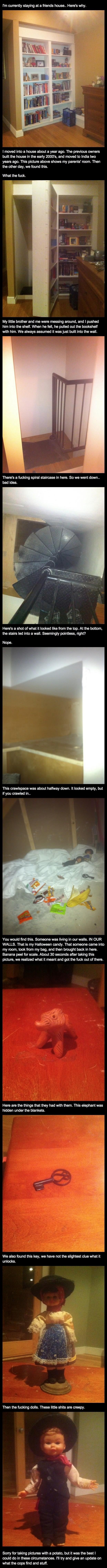 Eerie secret room