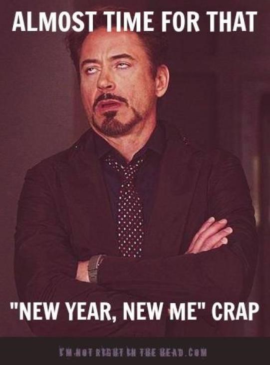 New year new me crap