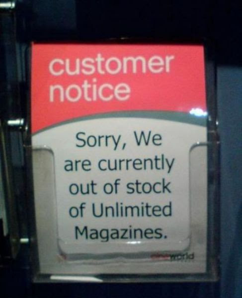 No unlimited magazines