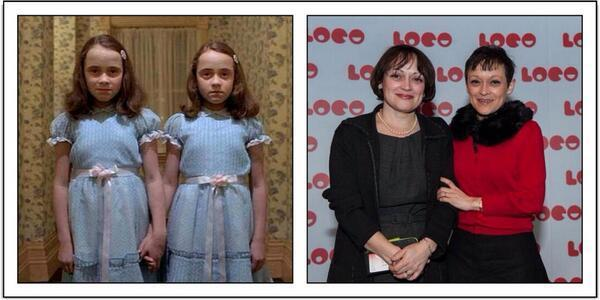 The Shining twins, then and now