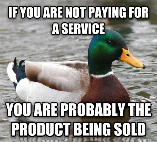 If you're not paing for a service