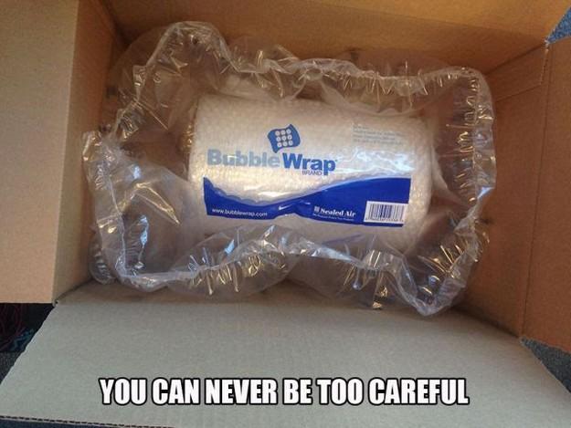 Bubble wrap wrap