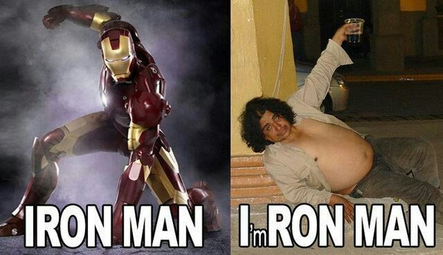 Ironman vs Ron man