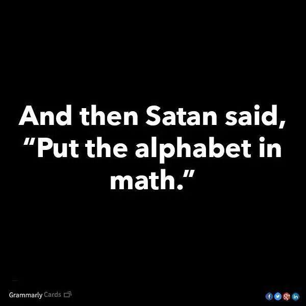 And then satan said