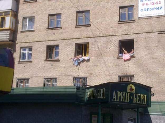Meanwhile, sun bathing in Russia