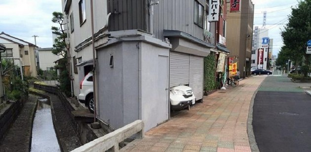 Car parks are small in Japan