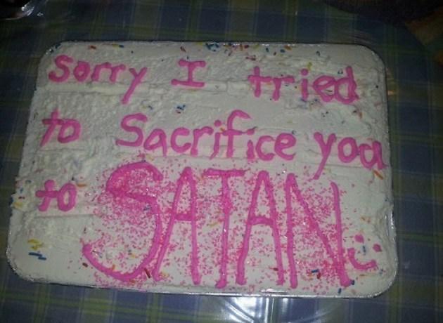 Sacrificew to satan