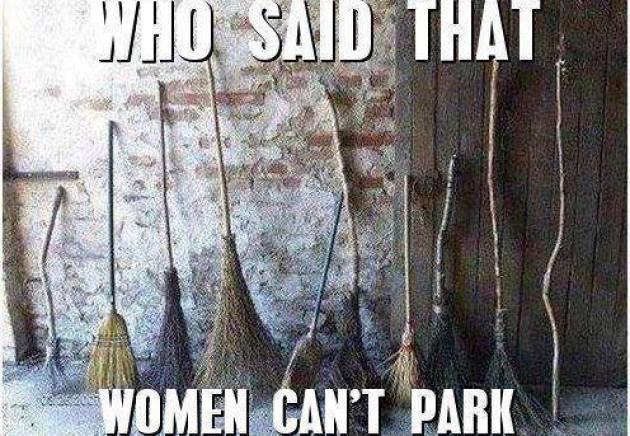 Women can park