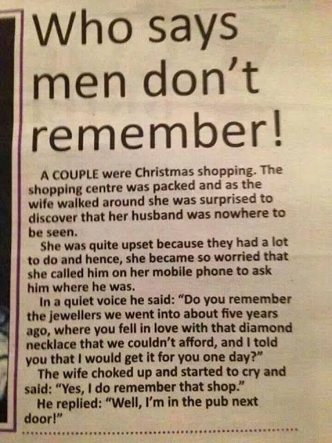 Who says men don't remember
