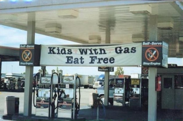 Kids with gas