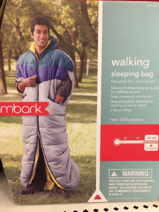 Walking sleeping bag
