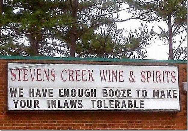 Enough booze