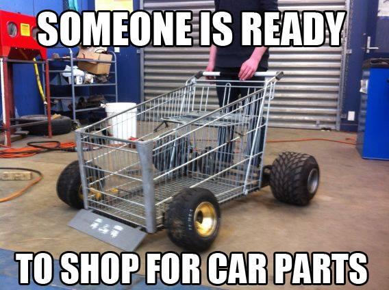 Car parts shopping cart