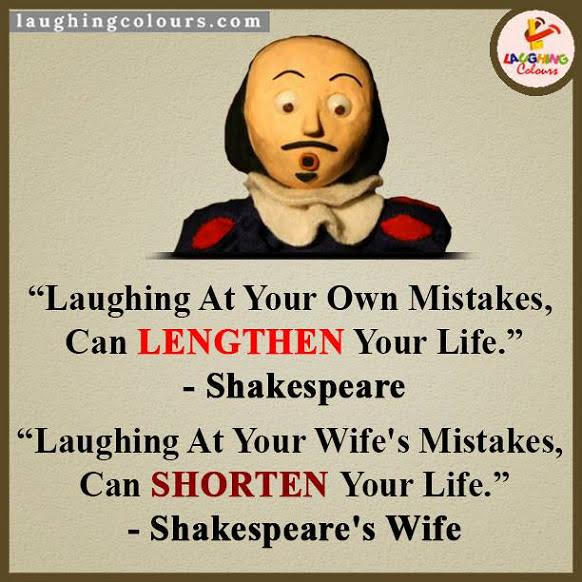 Laughing at mistakes