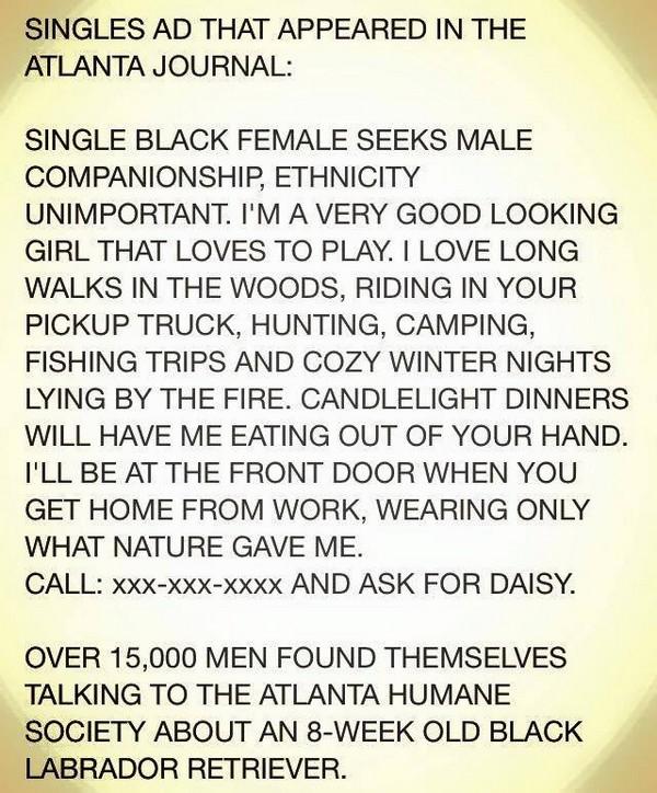 Singles ad