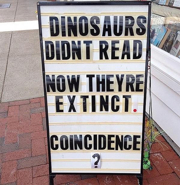 Dinsaurs don't read