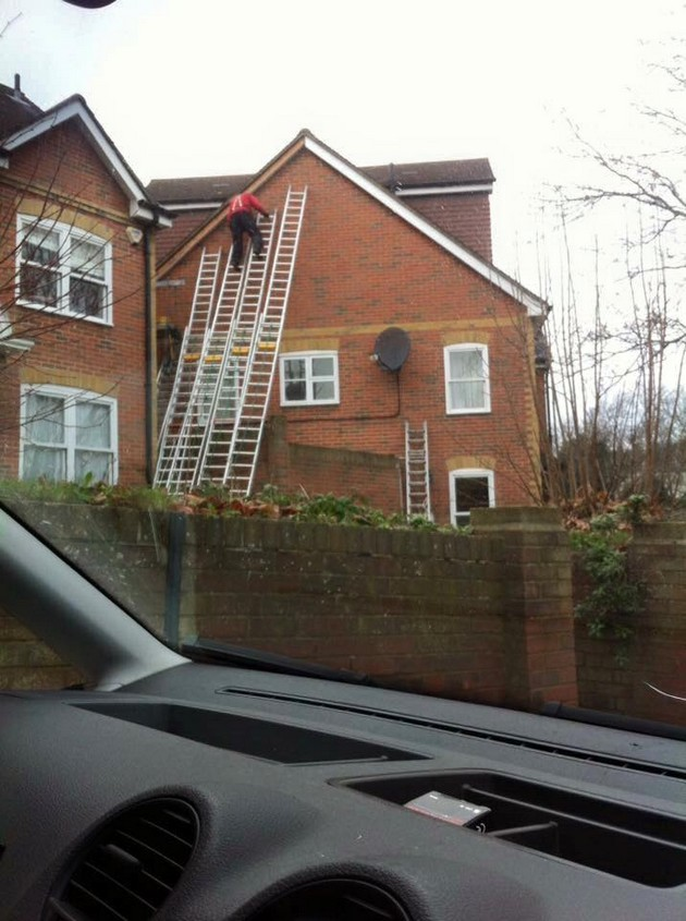 No scaffolding required