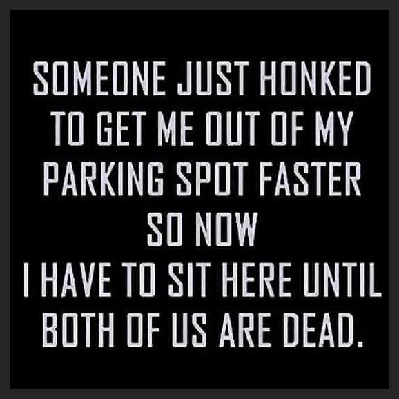 Someone just honked at me