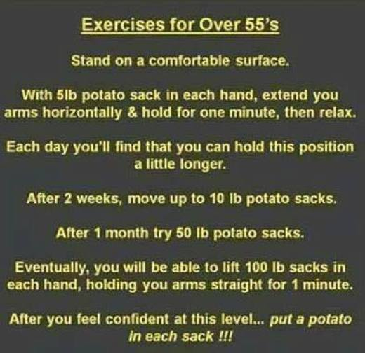 My new exercise plan