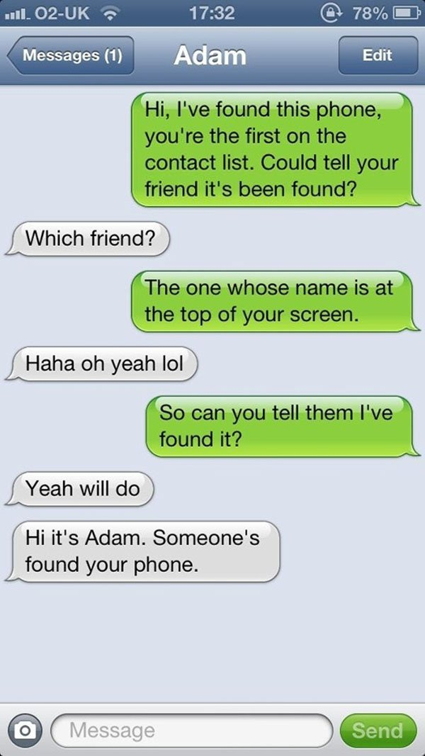 Your friend's phone