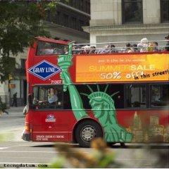 Buses en NYC en pruebas de anuncios digitales
