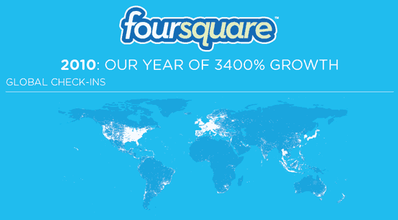 Crecimiento de Foursquare
