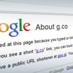 Google compró dominio G.co para usarlo en su acortador de direcciones