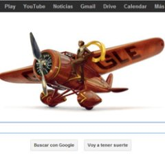 Amelia Earhart en el nuevo Google doodle