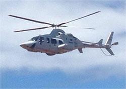 Helicóptero Naval HN-407 que trasladó a Bezos