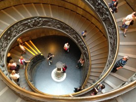 Some cool stairs as we headed out of the Vatican Museums.