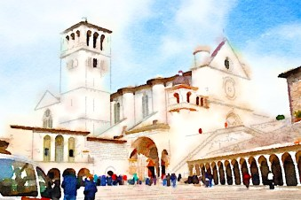 The Basilica of St Francis, Assissi