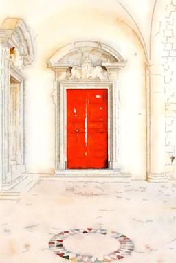 Red door, Montecassino