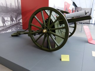 Gun to fire the first shell of the war