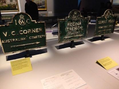 Original IWGC cemetery signs