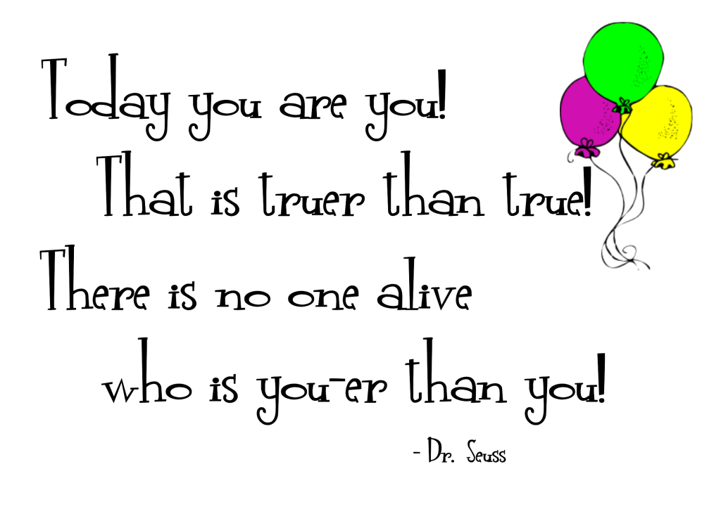 Today You Are You Word Art Freebie