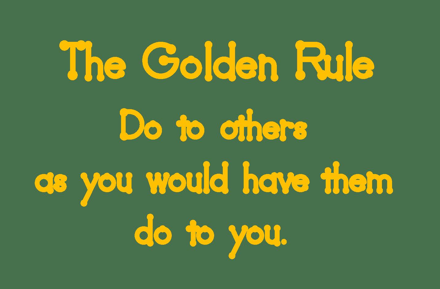 Golden Rule Word Art Freebie