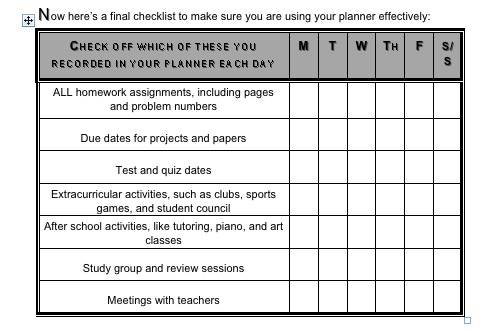 Planner Checklist Pic Bits Of Wisdom For All
