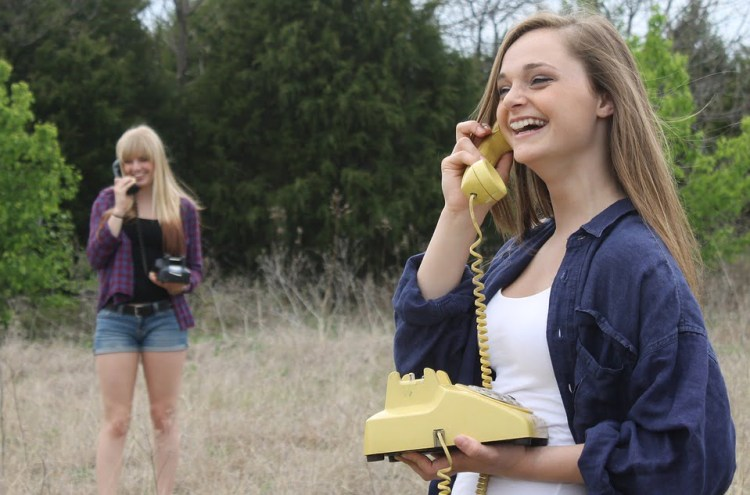 Image of a cute pick up lines phone talking