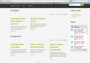 vCAC website