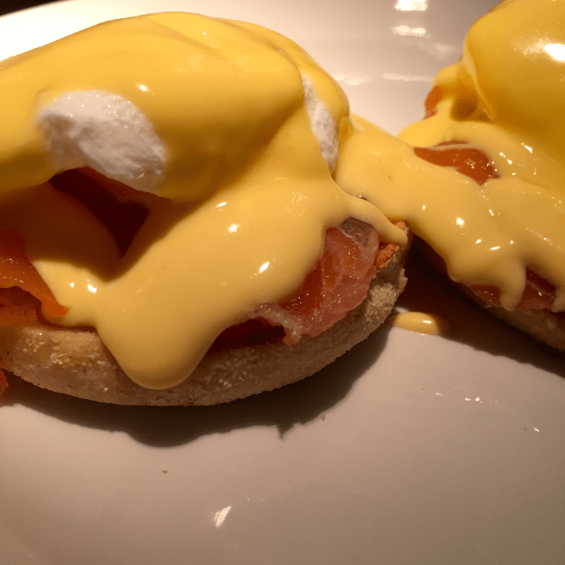 Eggs Royale at Joes Bar and Grill in Summertown