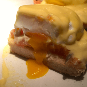 Oozing eggs at Joes Bar and Grill Oxford in Summertown