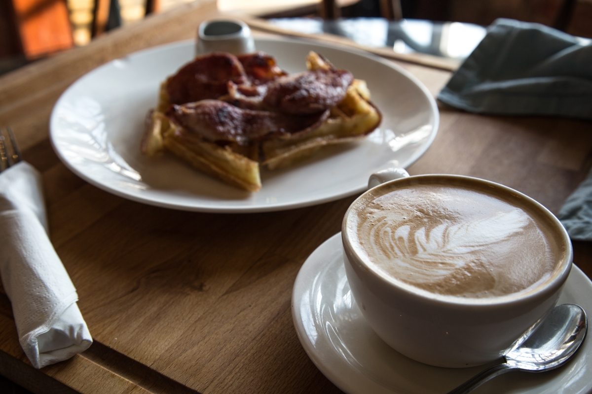 Rumsey's Chocolaterie Bacon Waffle