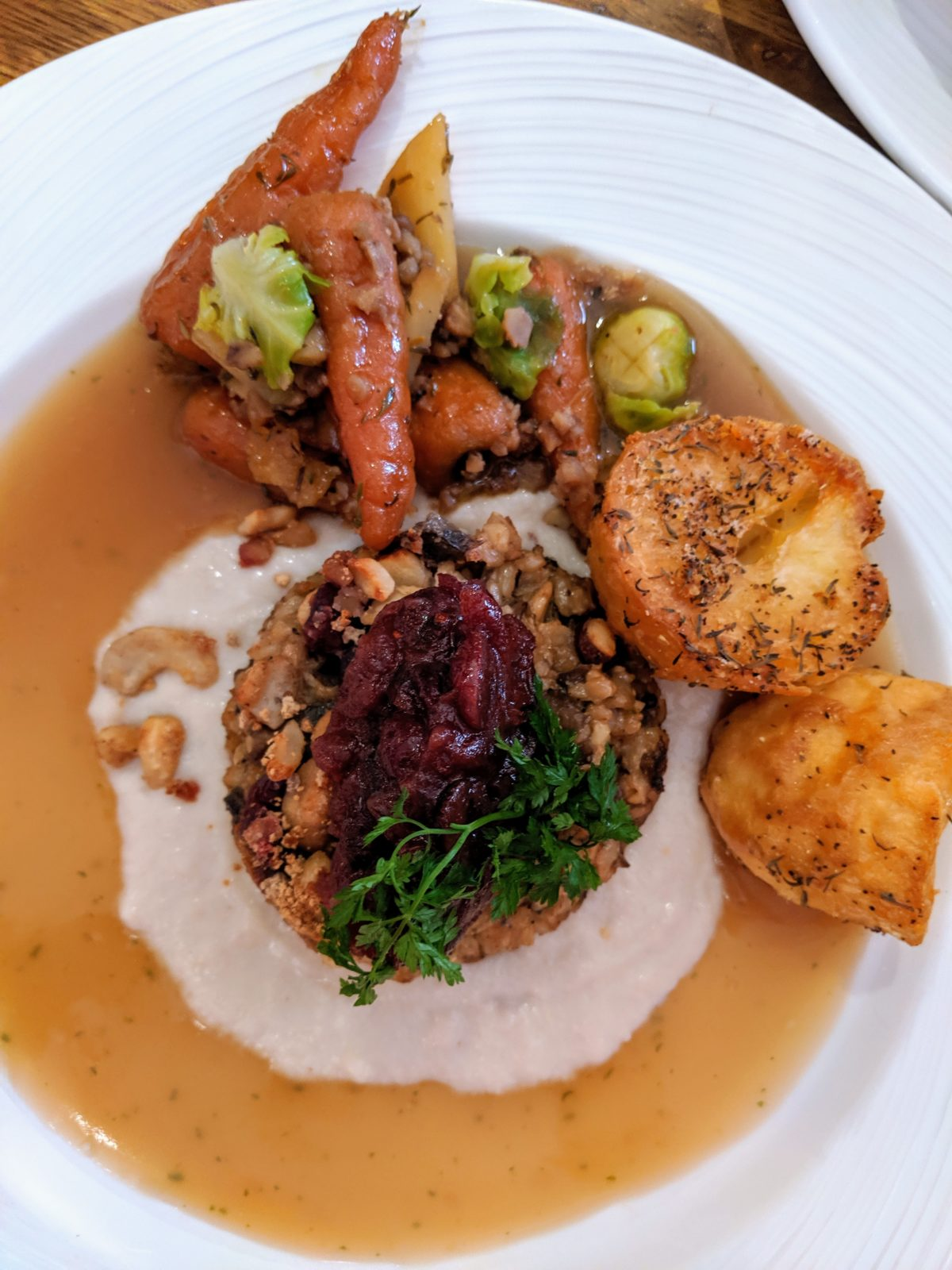 Christmas nut roast at The Baskerville Henley | Image Credit Bitten Oxford