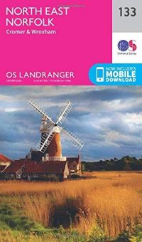 OS Landranger - 133 - North East Norfolk, Cromer & Wroxham