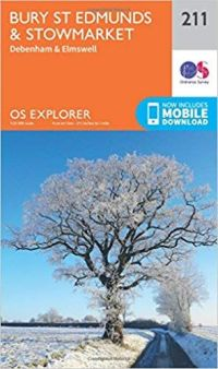 OS Explorer - 211 - Bury St. Edmunds and Stowmarket