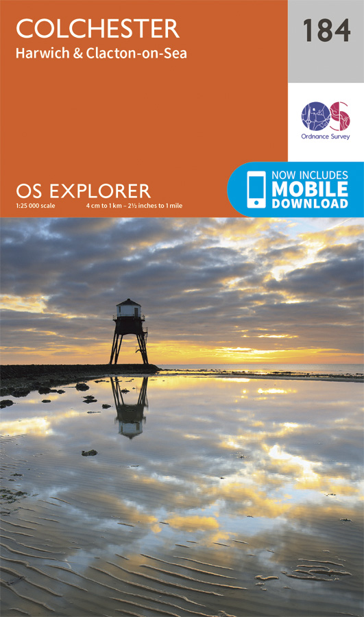 OS Explorer 184 - Colchester, Harwich and Clacton