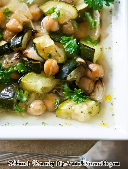 Roasted Zucchini and Chickpea Soup